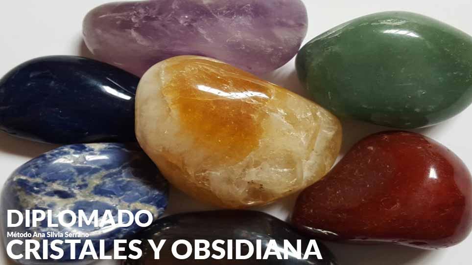 cristales y obsidiana